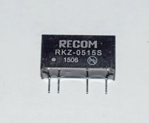 DC TO DC CONVERTER RECOM RKZ-0515S 5V IN 15V OUT 2W
