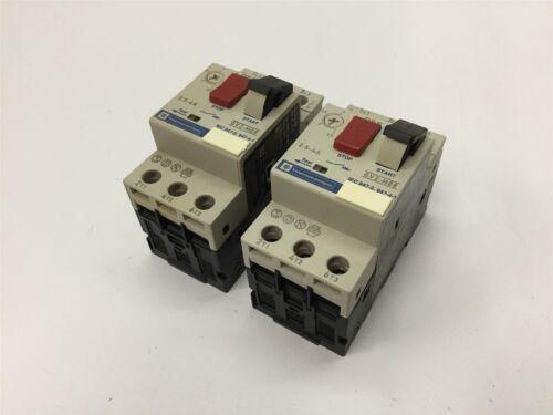 Lot of 2 Telemecanique GV2-M08 Motor Starters 3-Pole Rating: 690V 2.5-4A