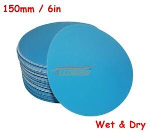 150-mm-humide-ou-sec-poncage-disque-6-in-environ-15-24-cm-Papier-De-Verre-VELCRO-aucun-trou-40-Grain