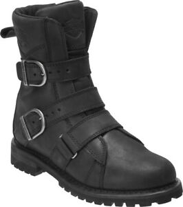 Harley-Davidson-Women-039-s-Hemford-6-75-Inch-Black-or-Brown-Motorcycle-Boots-D84470