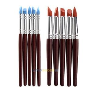 5Pcs Clay Sculpting Set Wax Carving Pottery Tools Shapers Polymer Modeling Pen