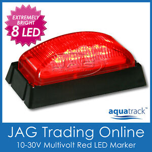 10V-30V 8-LED RED MARKER LIGHT/CLEARANC<wbr/>E LAMP - Boat/Trailer/T<wbr/>ruck/Caravan BL