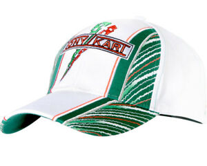 TonyKart / OTK White, Green & Red Cap NEW for 2014 One Size Fits All