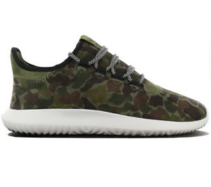 Details zu adidas Originals Tubular Shadow Sneaker Grün Camouflage Schuhe  Leder BB8818 NEU