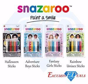 Snazaroo-Face-amp-Body-Paint-Sticks-Halloween-Boys-Girls-Unisex-Paint-Fancy-Dress