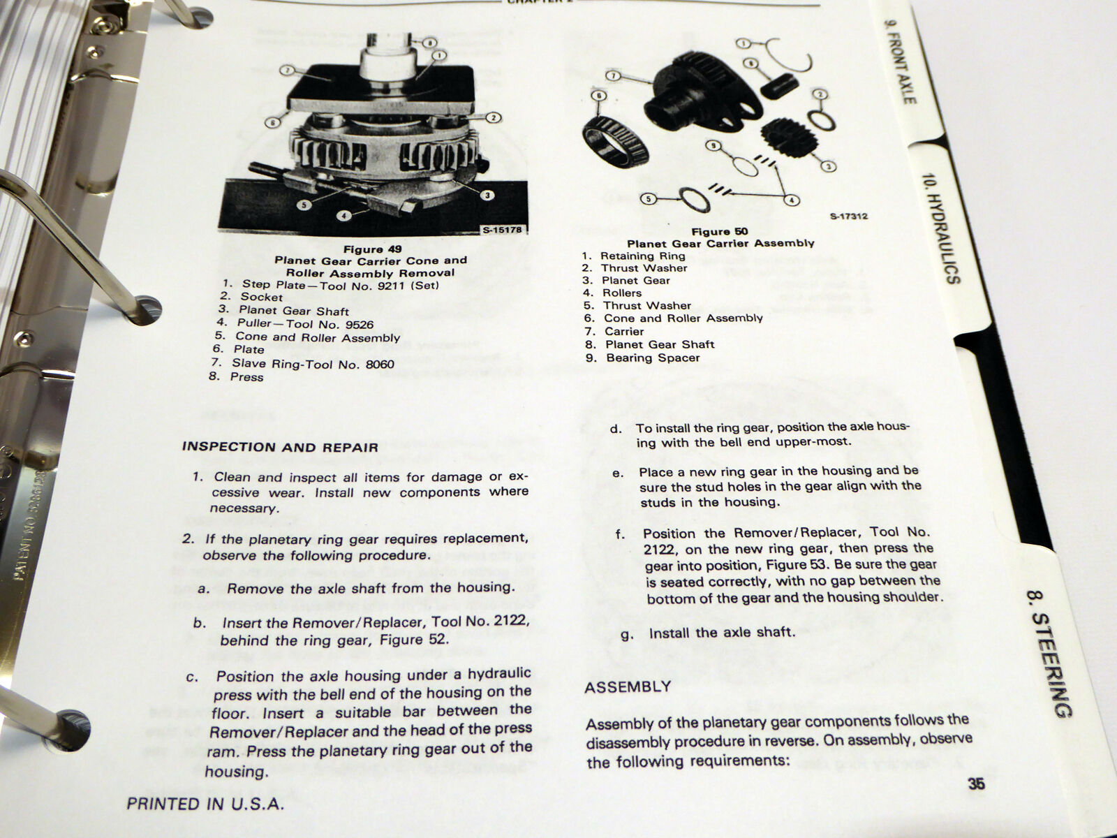 Ford 230a 340a 445 530a 540a 545 Tractor Service Manual Repair Shop Panther Kallista Wiring Diagram Book Ebay