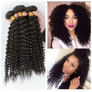 3 bundles virgin 100 brazilian kinky curly hair human