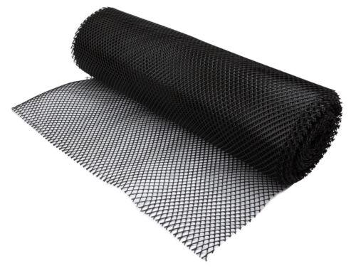 1x Bar Liner Drawer Mat Black Glass Mesh Mat Black Roll Shelf Protector 10mx61cm