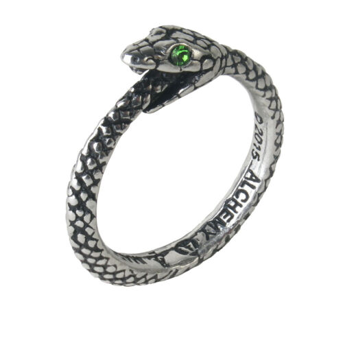 Alchemy of England Gothic Sophia Serpent Ouroboris Snake Punk Jewelry Ring R206