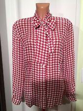 GERRY WEBER Bluse mit Schleifenkragen, Gr.38/40,rot/weiß,100% Viscose,neuwertig