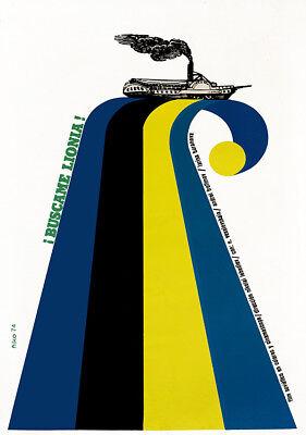 Movie Poster Find me LIONIA.Soviet Avant Garde art.Russian Lebediev cinema art..