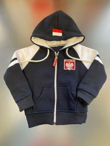 POLSKA bleu polonais Full Zip Sweat à capuche pour enfants et Jeunesse