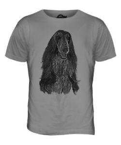 Levrier Afghan Homme Dessin Imprime Haut T Shirt Super Cadeau Pour