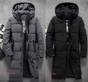 Mens-Winter-Casual-Warm-Duck-Down-Jacket-Hooded-Coat-Puffer-Long-Parka-Outwear