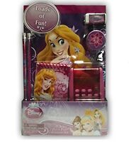 Disney Princess 7 Piece Calculator Set Notebook Pencil Sharpener Eraser