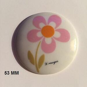 Romantique Limoges 1 Plaque Porcelaine Limoges 53 Mm Decor Bouquet