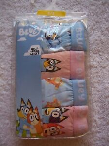 Official Bluey Girls 4Pack Briefs Underpants Underwear Undies Size 1-2 Brand New