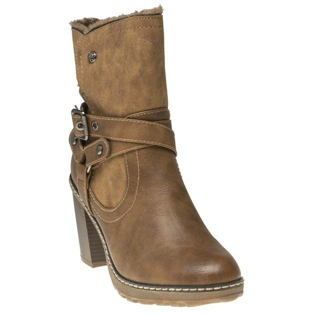 NUOVA linea donna donna donna XTI Tan 64772 PU Stivali Alla Caviglia Fibbia Zip | Moda moderna ed elegante  | Gentiluomo/Signora Scarpa  d627dc