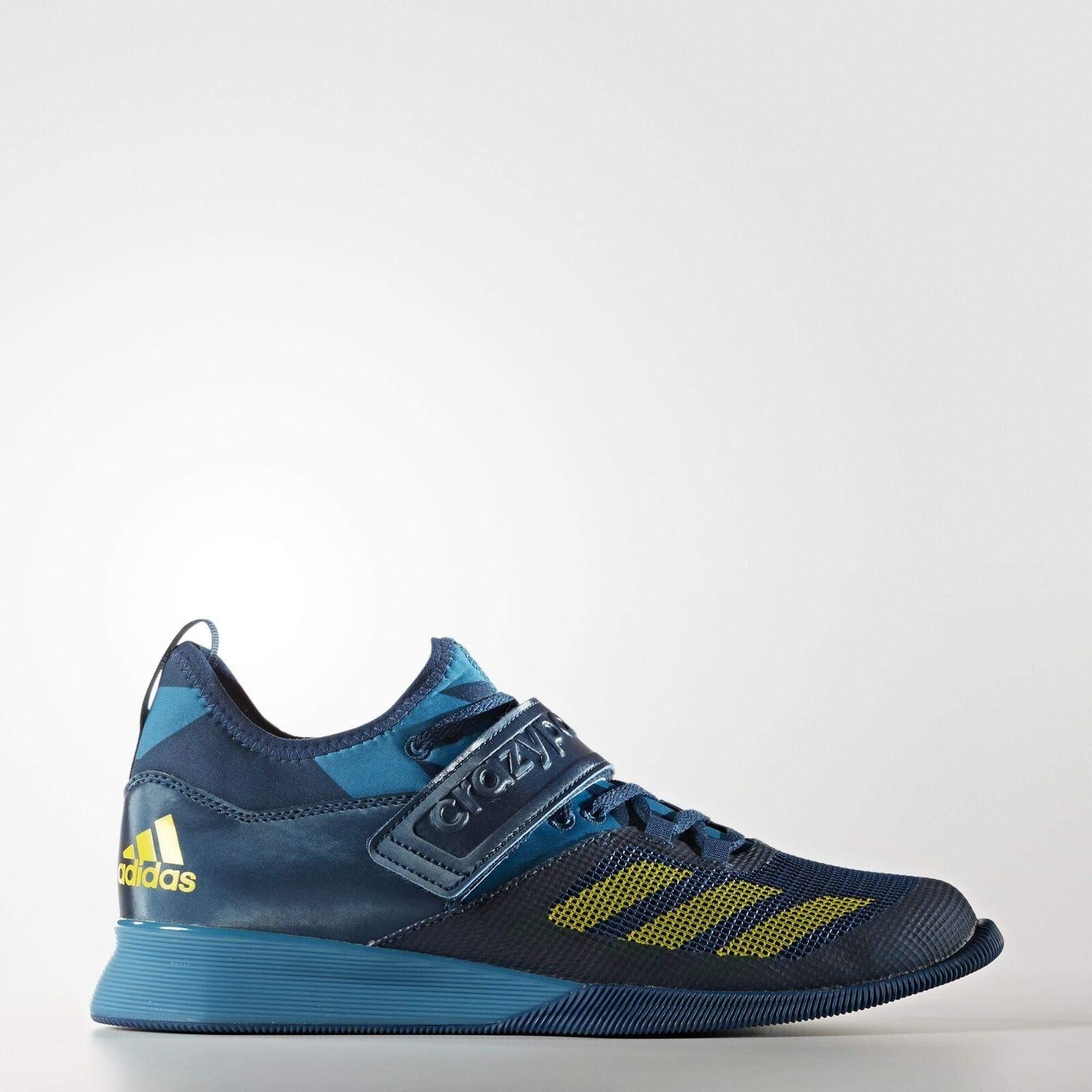 New Adidas Men's Crazy Power Weightlifting Blue Shoes Size 9 Navy Blue Weightlifting Powerlifting 35ff72