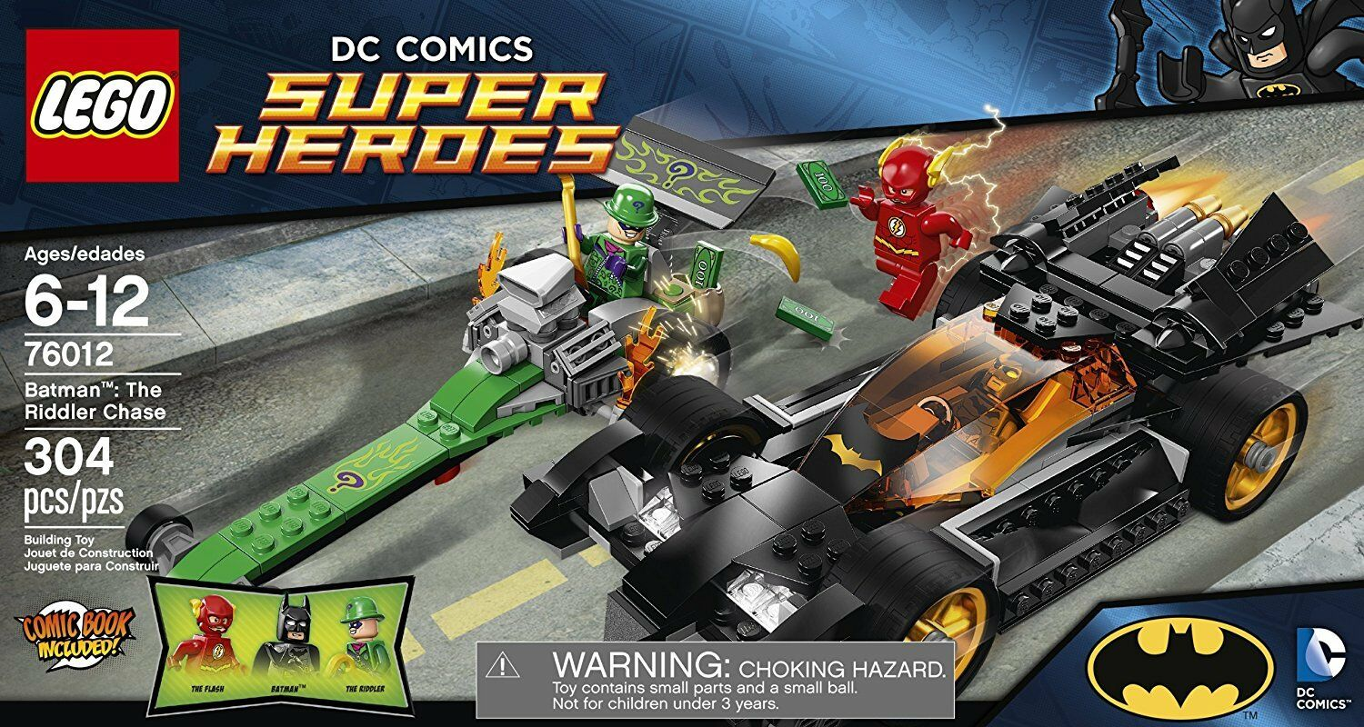 NEW LEGO DC SUPER HEROES 76012 BATMAN  THE RIDDLER CHASE RETIRED SET FLASH