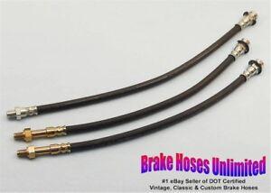 BRAKE-HOSE-SET-American-Motors-Gremlin-1972-6cyl-Drum