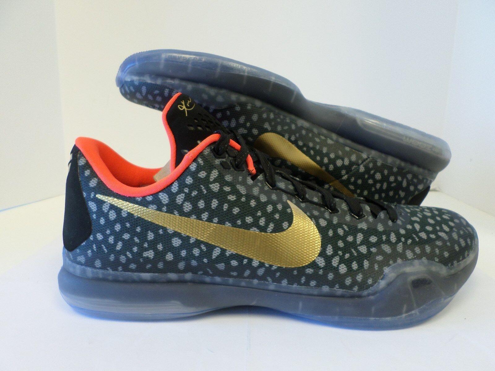 New Nike Men's Kobe iD Basketball Shoe Gray/Black/Gold/Crimson 777411-971