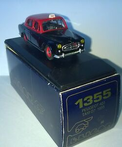 ELIGOR-1-43-AUTO-DIE-CAST-PEUGEOT-403-TAXI-GT-1955-NERO-ROSSO-ART-1355