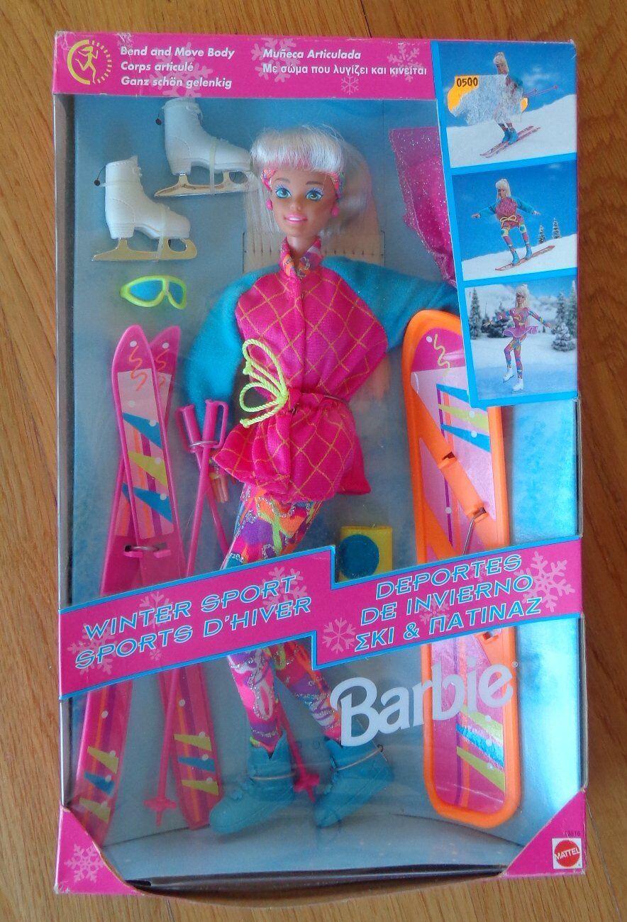 Barbie Winter Sport Sport Sport Hiver Mattel Vintage 493bd2