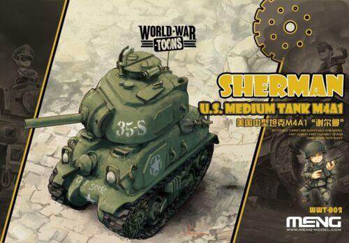 Meng-Model WWT-002 Neu U.S.Medium Tank M4A1 Sherman