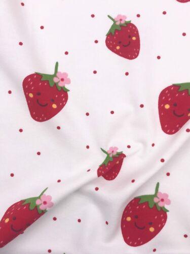 Jersey sustancia niños sustancia fresas ancho a partir de 150cm 50cm