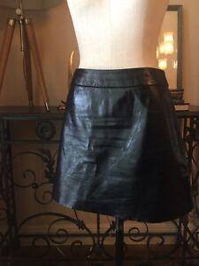 37fb1a7fadc Image is loading Neiman-Marcus-Lamb-Leather-Alice-Olivia-Black-Skirt-
