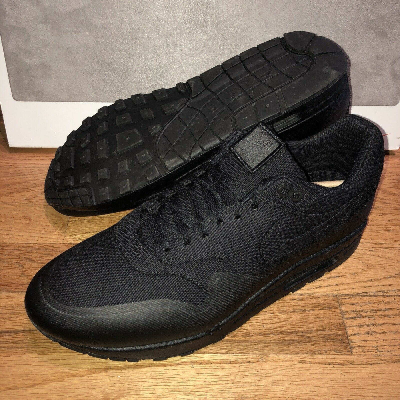 Nike Air Max 1 V SP Patch All Black Mens Size 14 New DS USA American Flag