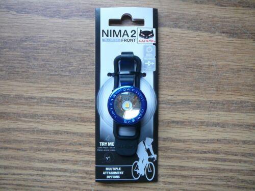 Chrome Blue Cateye Nima 2 Bicycle Safety Head Light 1 White LED Multi-Mount
