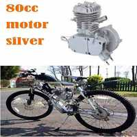 Silver 80cc 2 Stroke Engine For Motorized Bicycle Bike Engine A+ Quality