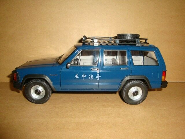 1 18 New China Bj Jeep Cherokee 2500 Model Blue Color Gift