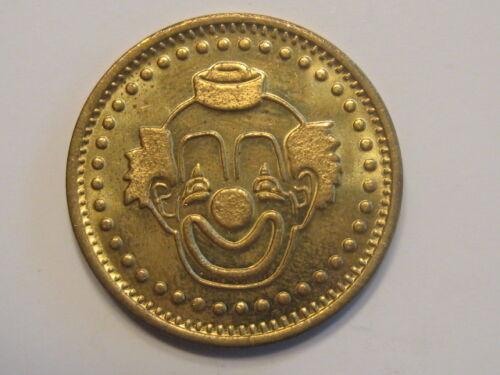Clown children kids girls or boys brass good luck token medal coin medallion