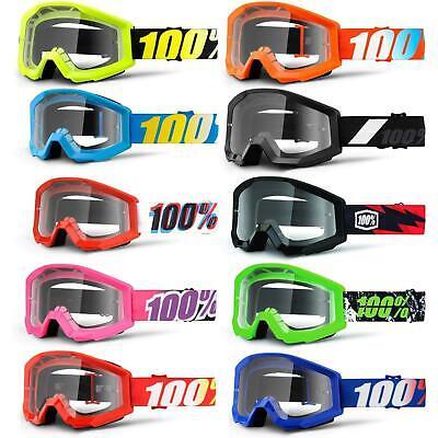 Marchio Di Tendenza 100% Strata Jr Bambini Goggle Occhiali Chiaro Dh Mtb Mx Downhill Mountain Ruota-