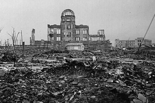 Lámina-Bomba Atómica destrucción de Hiroshima 1945 imagen de arte cartel