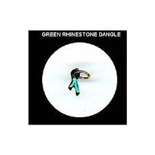 GREEN  Rhinestone RIBBON  Nail Art Dangle Jewelry