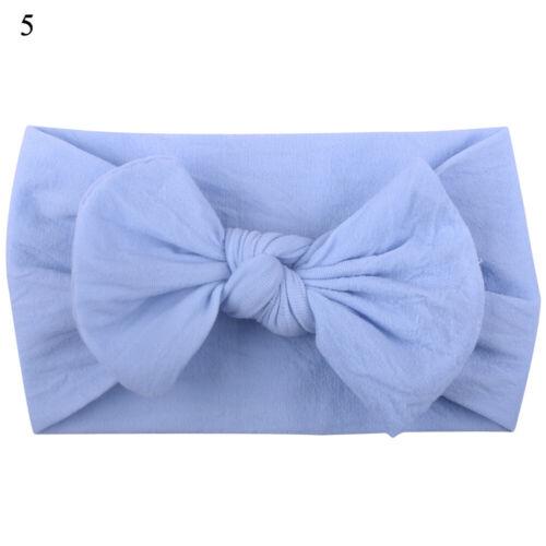Lovely Infant Girls Wild Head Wrap Big Bowknot Turban Headband Hair Accessories