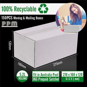 150-Mailing-Box-270x160x120mm-White-Carton-fit-Australia-POST-3KG-Parcel-Satchel