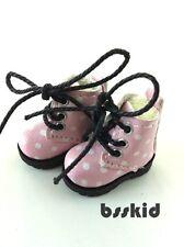 Blythe Pullip Dal Lati Yellow Doll Shoes PINK Polka Dot Boots Cute