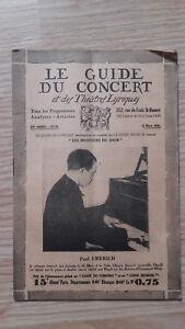 El Guía de La Concierto Y Las Teatro Letra - Paul Emerich - N º 24-1929