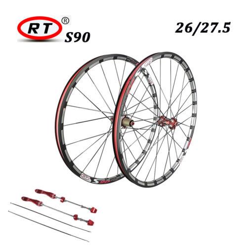 RT S90 Wheelset Mountain Bike 120 Sound straight Pull Brake Disc 26//27.5 Wheels