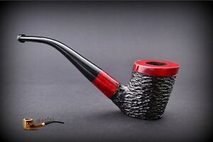 HAND-MADE-WOODEN-TOBACCO-SMOKING-PIPE-PEAR-no-48-Rustic-Red-Filter