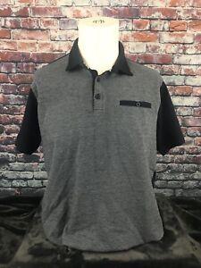 19f6281e4 Cactus Man Ricky Singh Black Gray Polo Golf shirt Men s Size Large ...