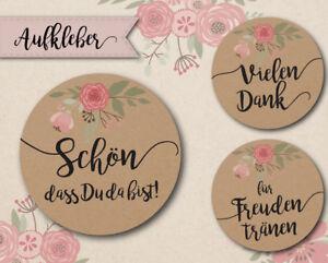 Aufkleber Hochzeit Vintage Blumen 40mm Gastgeschenke Ebay