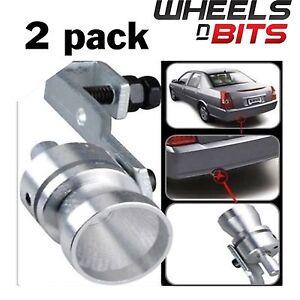 2x-Universal-meilleur-Tuyau-d-039-echappement-Turbo-Whistler-LOUD-SOUND-Sportif-Turbo-Dump-Valve