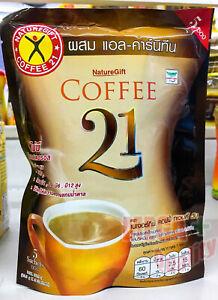 Naturegift Abnehmen Diät Gewichtsverlust 21 plus L-Carnitin Instant Coffee 5 Beutel