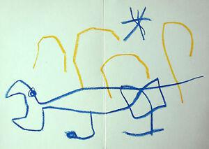 MIRO-LITHOGRAPH-w-COA-gift-of-magical-1972-Joan-Miro-litografo-RARE-VINTAGE-ART